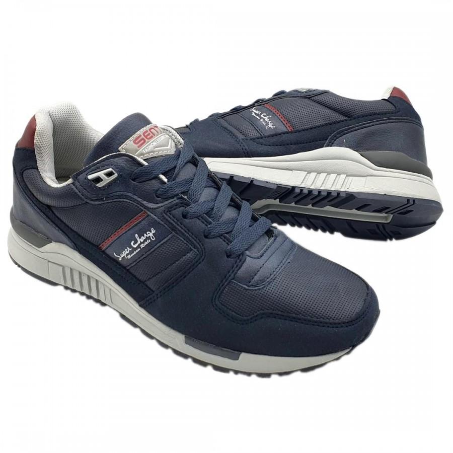 Pantofi Casual Sente Bleumarin Cod 2104 - Oferta 1+1 Gratis-oferit de denyonline.ro