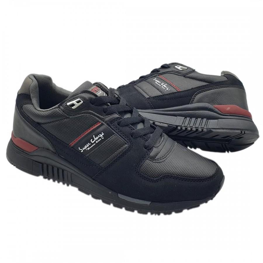 Pantofi Casual Sente Negru Cod 2102 - Oferta 1+1 Gratis-oferit de denyonline.ro