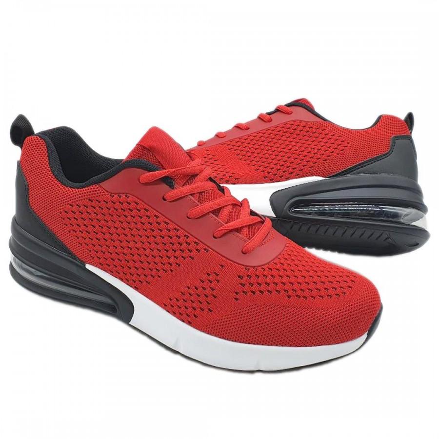 Pantofi  Barbatesti Barton Rosu-Negru-Alb Cod 1031 - Oferta 1+1 Gratis-oferit de denyonline.ro