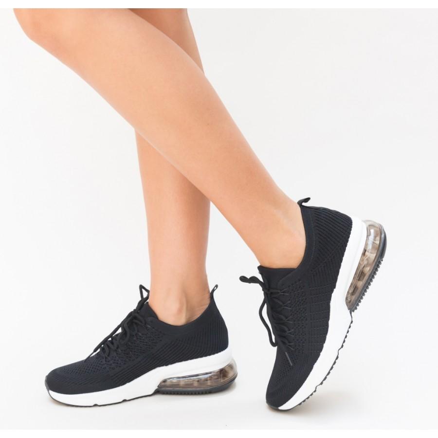 Pantofi  Sport Deny Black Cod 2079 - Oferta 1+1 Gratis-oferit de denyonline.ro