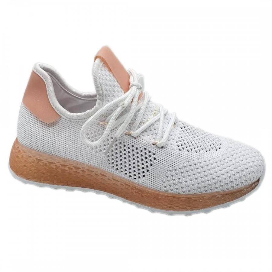 Pantofi  Sport Diva  White Pink Cod 2077 - Oferta 1+1 Gratis-oferit de denyonline.ro