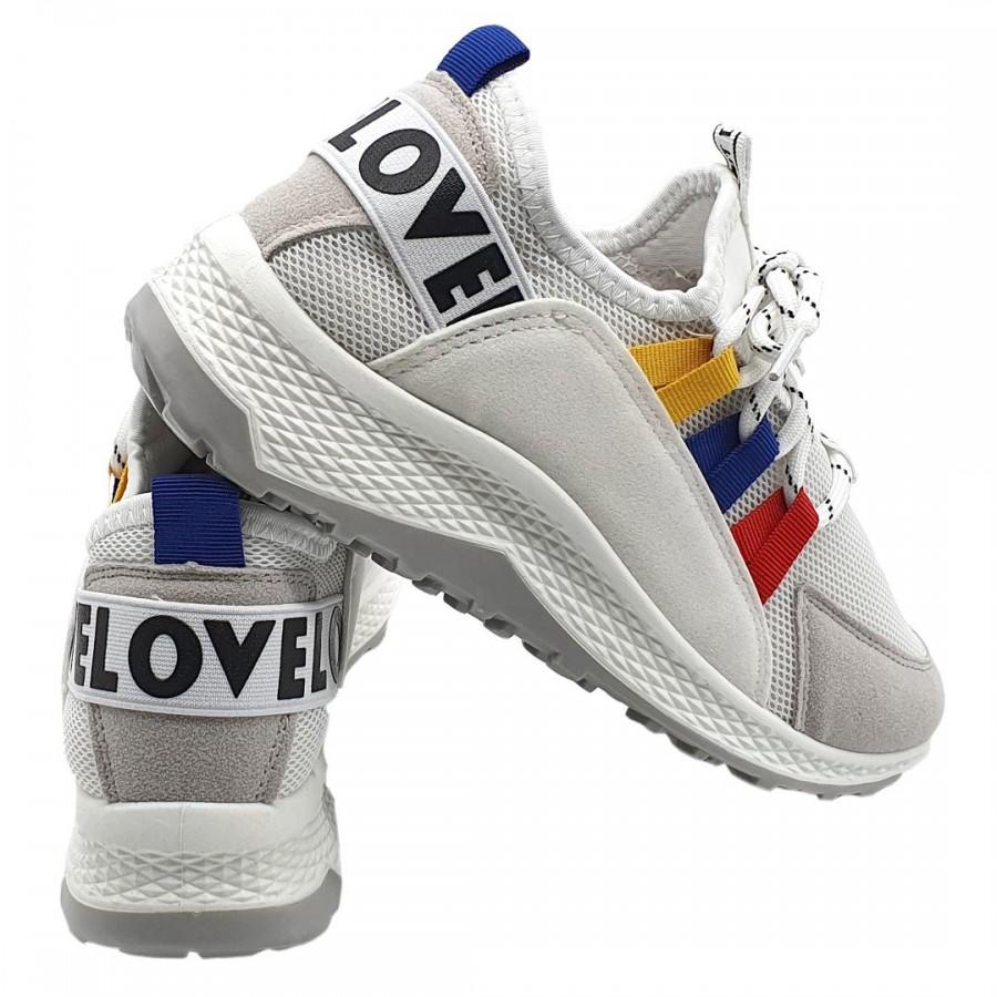 Pantofi  Casual Edmund  White Cod 2060 - Oferta 1+1 Gratis-oferit de denyonline.ro